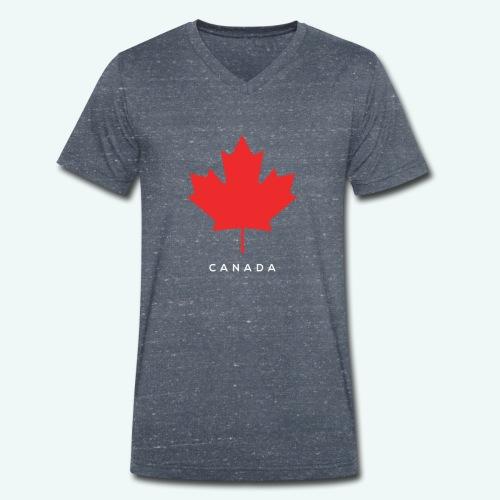 Canada-Lover - Männer Bio-T-Shirt mit V-Ausschnitt von Stanley & Stella