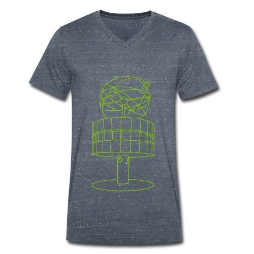 Weltzeituhr in Berlin - Männer Bio-T-Shirt mit V-Ausschnitt von Stanley & Stella