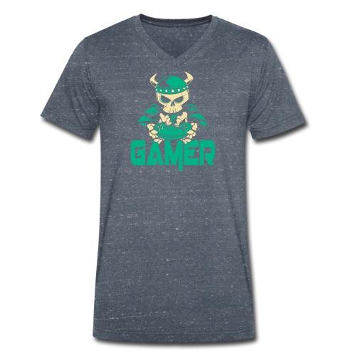 gamer skelett wikinger - Männer Bio-T-Shirt mit V-Ausschnitt von Stanley & Stella