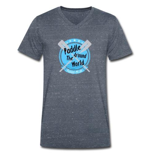 Paddle Around The World - Männer Bio-T-Shirt mit V-Ausschnitt von Stanley & Stella