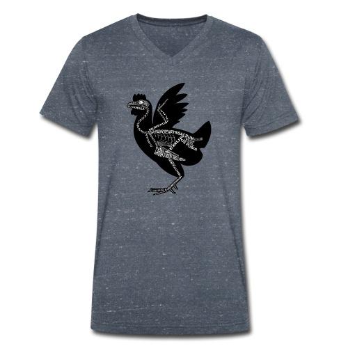 Huhn-Skelett - Camiseta ecológica hombre con cuello de pico de Stanley & Stella