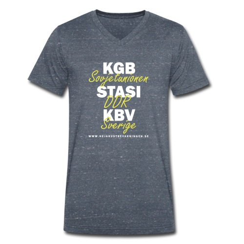 KGB STASI KBV - Ekologisk T-shirt med V-ringning herr från Stanley & Stella