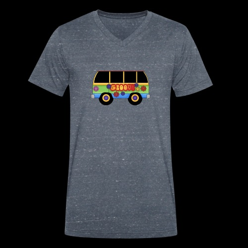 GROOVY BUS - Men's Organic V-Neck T-Shirt by Stanley & Stella