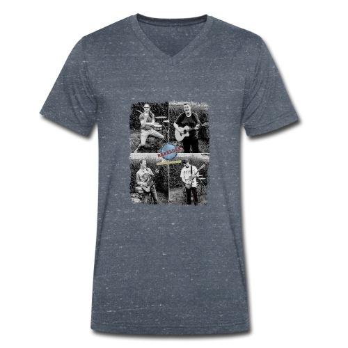 Rabalder Band Members Black & White - Økologisk Stanley & Stella T-shirt med V-udskæring til herrer