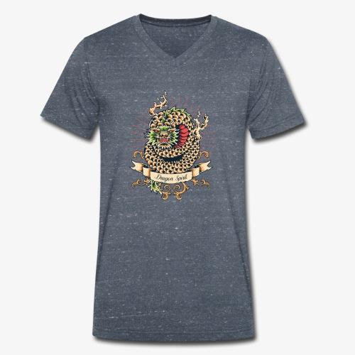 Drachengeist - Männer Bio-T-Shirt mit V-Ausschnitt von Stanley & Stella