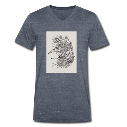 Nature de l'homme - T-shirt bio col V Stanley & Stella Homme