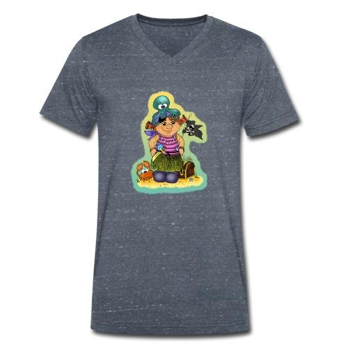 Ahoi nech, kloine Piroaaadin - Männer Bio-T-Shirt mit V-Ausschnitt von Stanley & Stella