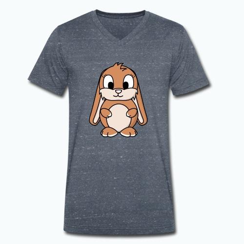 Lily Bunny - Appelsin - Ekologisk T-shirt med V-ringning herr från Stanley & Stella