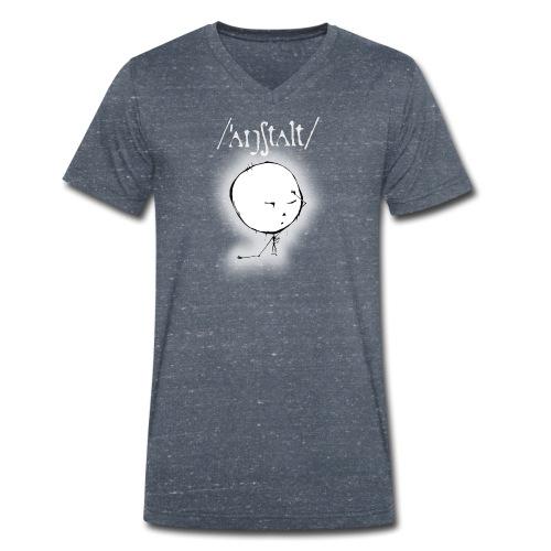 kreisling mit logo (weiß) - Männer Bio-T-Shirt mit V-Ausschnitt von Stanley & Stella