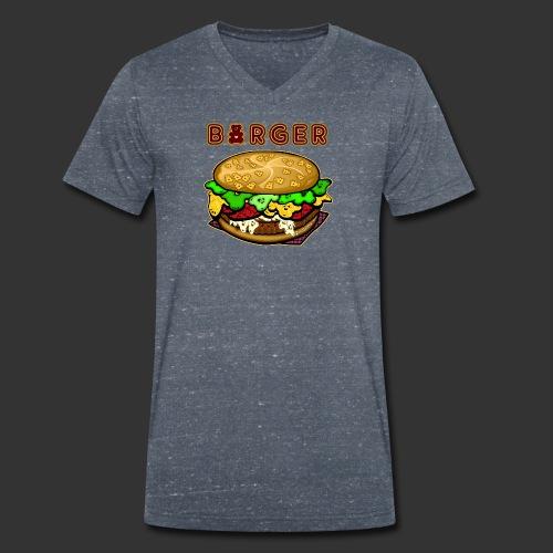 Burger Bear meets Bärenlust - Männer Bio-T-Shirt mit V-Ausschnitt von Stanley & Stella