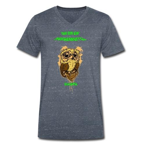 Eulenmotiv für Morgenmuffel - Männer Bio-T-Shirt mit V-Ausschnitt von Stanley & Stella