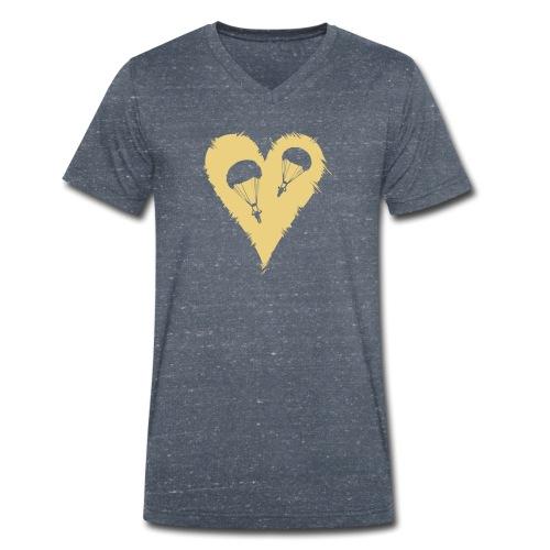 Parachute Heart - Männer Bio-T-Shirt mit V-Ausschnitt von Stanley & Stella