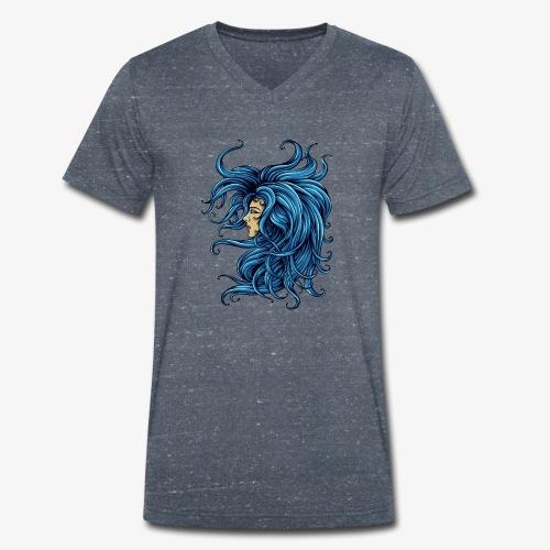 Dame dans le bleu - T-shirt bio col V Stanley & Stella Homme