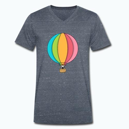 Zebra Zach Air Balloon - Ekologisk T-shirt med V-ringning herr från Stanley & Stella