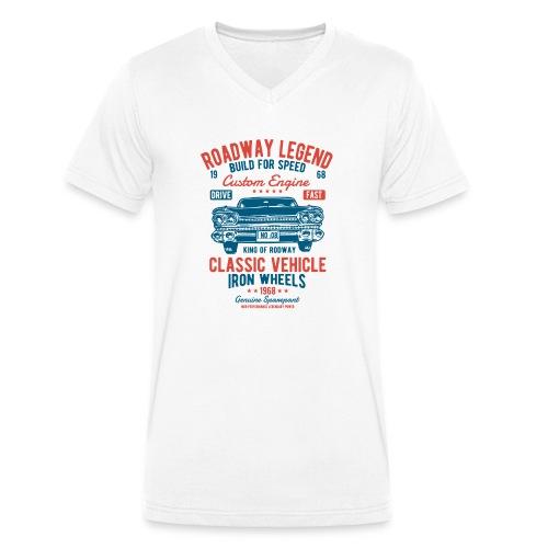 Roadway Legend - Mannen bio T-shirt met V-hals van Stanley & Stella