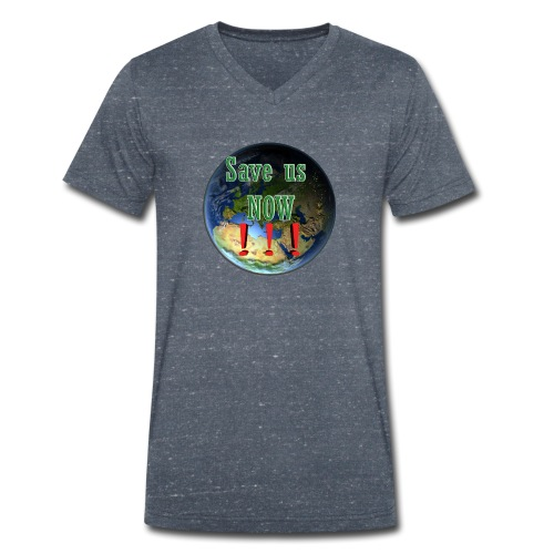 save us earth friday for future - Men's Organic V-Neck T-Shirt by Stanley & Stella