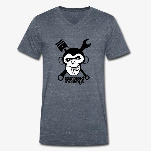 spanneredmonkeys-monkeyface - Men's Organic V-Neck T-Shirt by Stanley & Stella