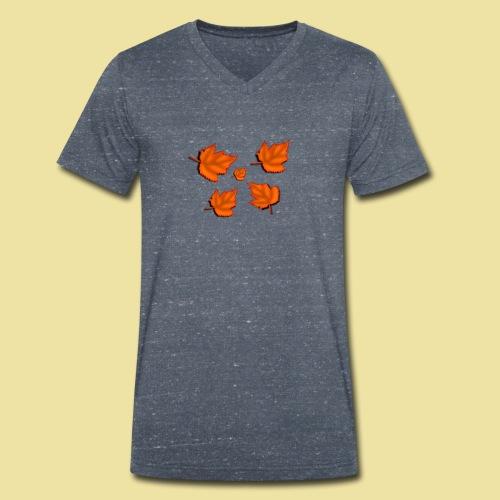 Herbstblätter - Männer Bio-T-Shirt mit V-Ausschnitt von Stanley & Stella