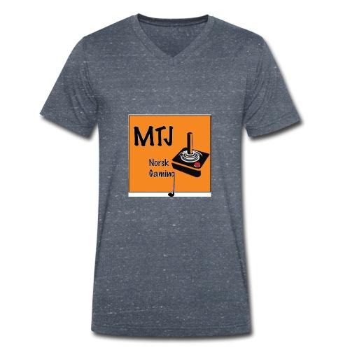 Mtj Logo - Økologisk T-skjorte med V-hals for menn fra Stanley & Stella