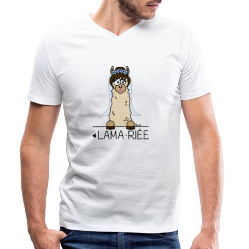 LAMARIEE (1de2), Mariage, mariée, Lama - T-shirt bio col V Stanley & Stella Homme