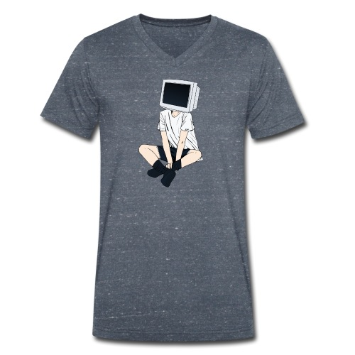 Monitor Head 3 - Men's Organic V-Neck T-Shirt by Stanley & Stella