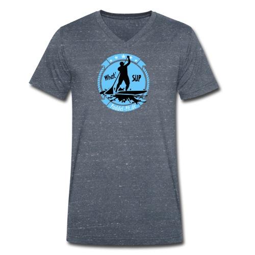 What`SUP. SUP Board Stand Up Paddling Sport - Männer Bio-T-Shirt mit V-Ausschnitt von Stanley & Stella