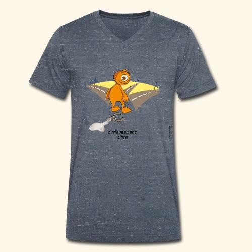 Libre - T-shirt bio col V Stanley & Stella Homme