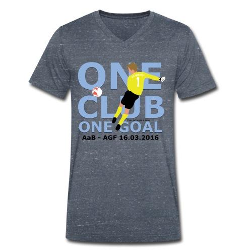 One Club One Goal - Økologisk Stanley & Stella T-shirt med V-udskæring til herrer