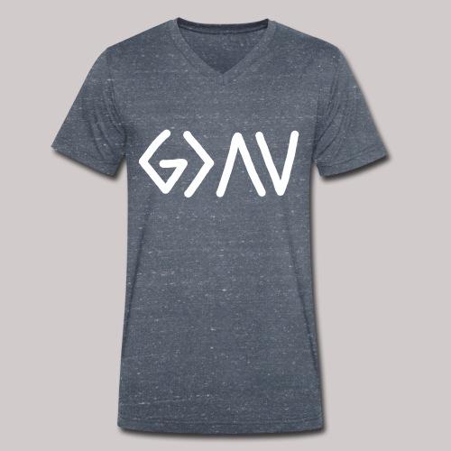 Dios es GRANDE - Camiseta ecológica hombre con cuello de pico de Stanley & Stella