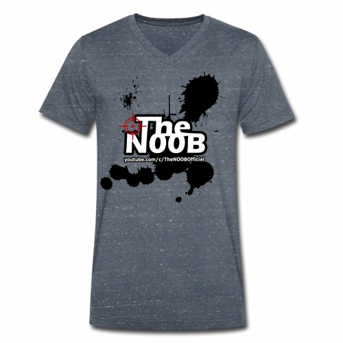 TheNOOB Official Logo Paint Splat! - Men's Organic V-Neck T-Shirt by Stanley & Stella