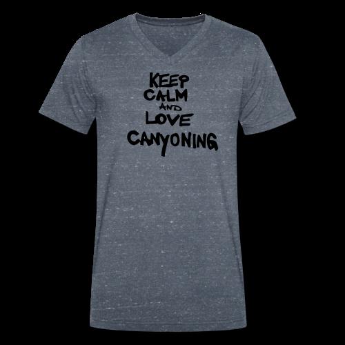 keep calm and love canyoning - Männer Bio-T-Shirt mit V-Ausschnitt von Stanley & Stella