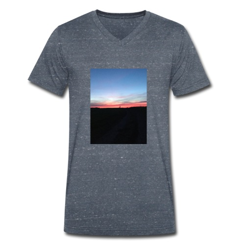 late night cycle - Men's Organic V-Neck T-Shirt by Stanley & Stella
