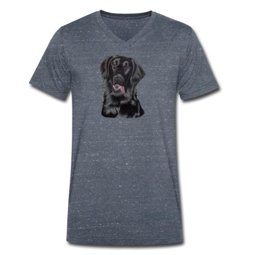 flatcoated retriever pastels - Økologisk Stanley & Stella T-shirt med V-udskæring til herrer