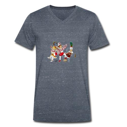 Köln Dreigestirn - Männer Bio-T-Shirt mit V-Ausschnitt von Stanley & Stella