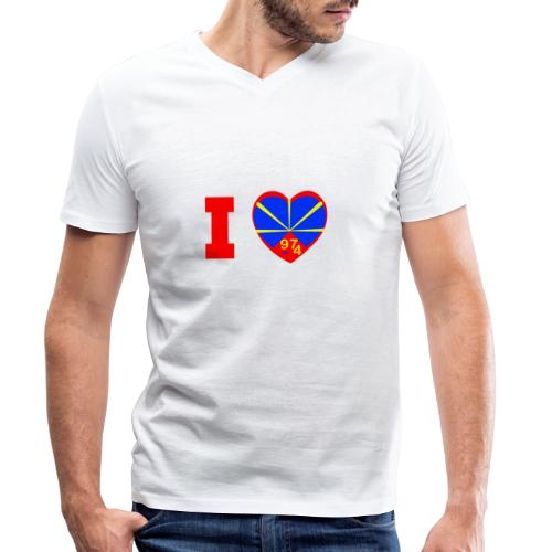 I love 974 - Lo Mahaveli - T-shirt bio col V Stanley & Stella Homme