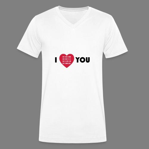 i love you - Männer Bio-T-Shirt mit V-Ausschnitt von Stanley & Stella