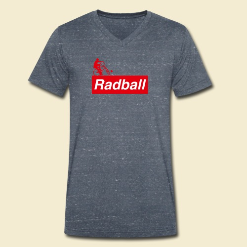 Radball   Red - Männer Bio-T-Shirt mit V-Ausschnitt von Stanley & Stella