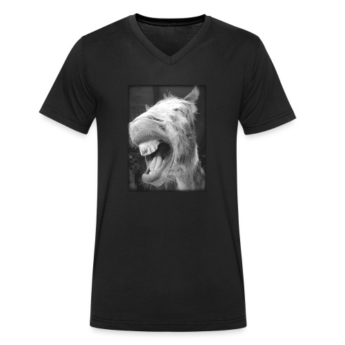 lachender Esel - Männer Bio-T-Shirt mit V-Ausschnitt von Stanley & Stella