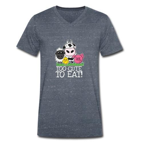 Too cute to eat - Männer Bio-T-Shirt mit V-Ausschnitt von Stanley & Stella