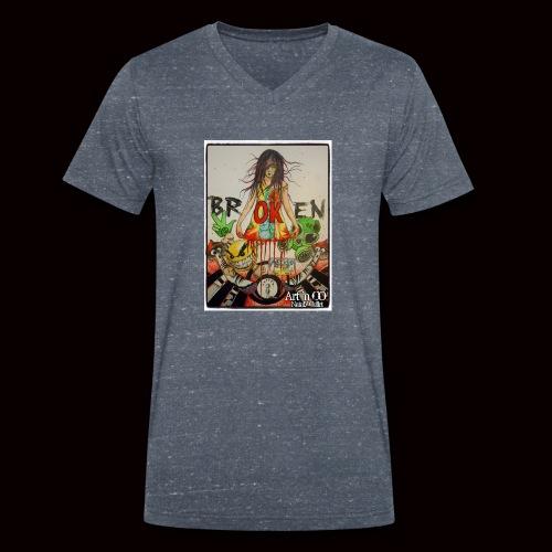 BrOKen - T-shirt bio col V Stanley & Stella Homme