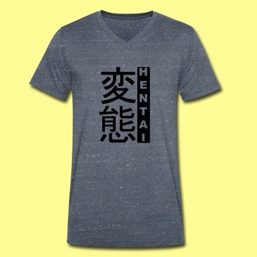 HENTAI 変態 - T-shirt ecologica da uomo con scollo a V di Stanley & Stella