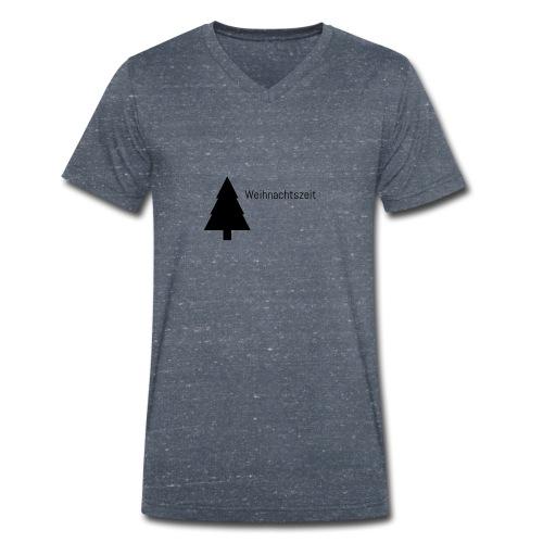Weihnachtszeit - Männer Bio-T-Shirt mit V-Ausschnitt von Stanley & Stella