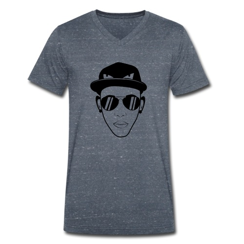 adhex cara - Camiseta ecológica hombre con cuello de pico de Stanley & Stella