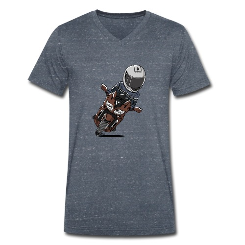 0790 FJR1300 Magnetic Bronze - Mannen bio T-shirt met V-hals van Stanley & Stella