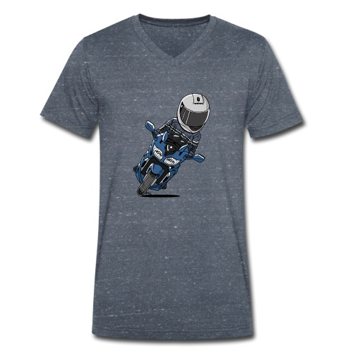 0790 FJR PhantomBlue - Mannen bio T-shirt met V-hals van Stanley & Stella