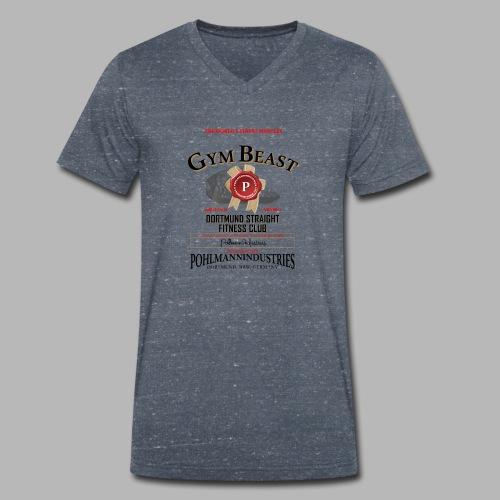 GYM BEAST - Männer Bio-T-Shirt mit V-Ausschnitt von Stanley & Stella