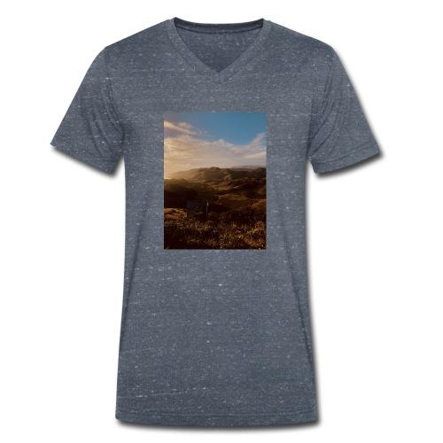 rigo poncio - Camiseta ecológica hombre con cuello de pico de Stanley & Stella