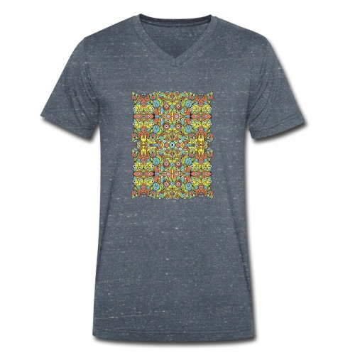 Weird creatures multiplying infinitely - Men's Organic V-Neck T-Shirt by Stanley & Stella
