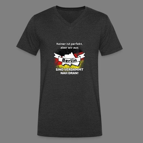 Perfekt Berlin - Männer Bio-T-Shirt mit V-Ausschnitt von Stanley & Stella