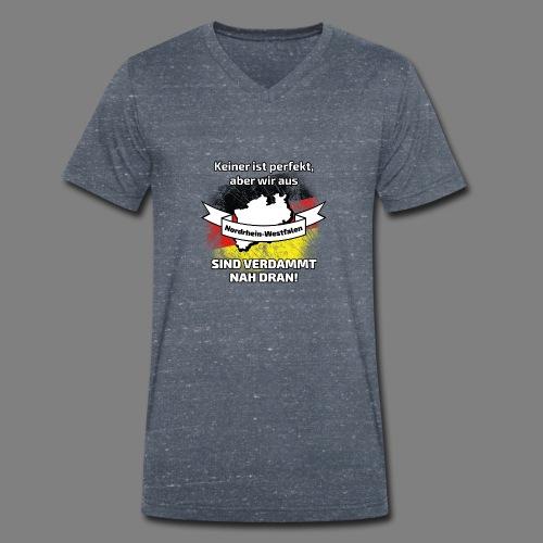 Nordrhein-Westfalen - Männer Bio-T-Shirt mit V-Ausschnitt von Stanley & Stella